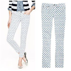 J. Crew Toothpick ankle jean thistle print size 28